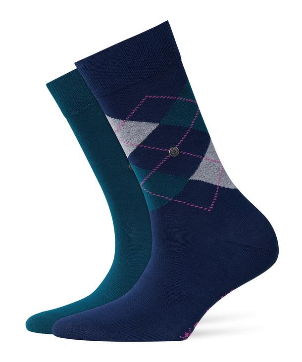 Burlington 2 Pair Men/'s Everyday Invisible Socks Black