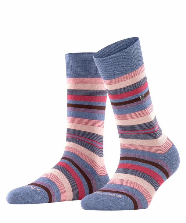 Ladies Burlington Fashion Cotton Stripe Socks